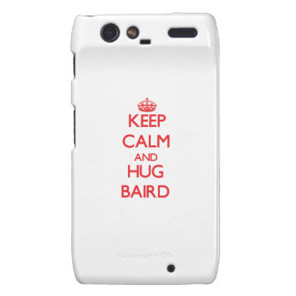 Mantenga tranquilo y abrazo Baird Droid RAZR Funda