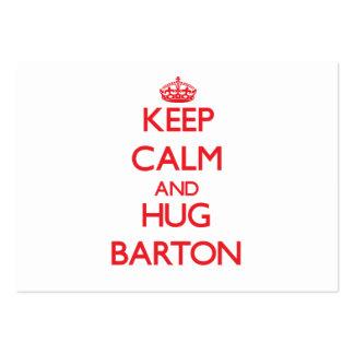 Mantenga tranquilo y abrazo Barton Tarjeta De Visita