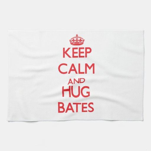 Mantenga tranquilo y abrazo Bates Toallas De Mano