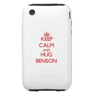 Mantenga tranquilo y abrazo Benson iPhone 3 Tough Cárcasa