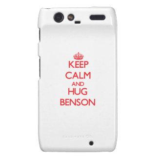 Mantenga tranquilo y abrazo Benson Motorola Droid RAZR Carcasas