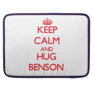 Mantenga tranquilo y abrazo Benson Funda Para Macbooks