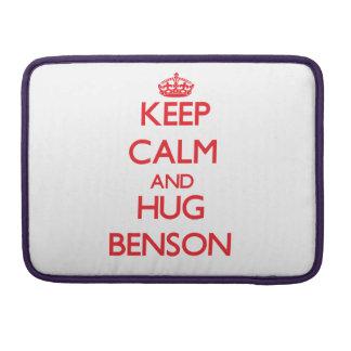 Mantenga tranquilo y abrazo Benson Fundas Para Macbook Pro