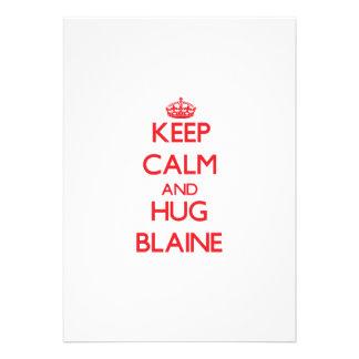 Mantenga tranquilo y ABRAZO Blaine Invitacion Personalizada