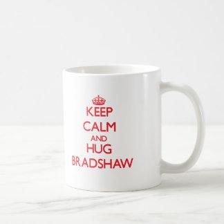 Mantenga tranquilo y abrazo Bradshaw Tazas De Café