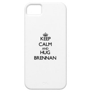 Mantenga tranquilo y abrazo Brennan iPhone 5 Case-Mate Cárcasa