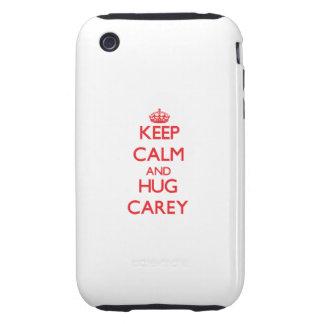 Mantenga tranquilo y abrazo Carey iPhone 3 Tough Coberturas