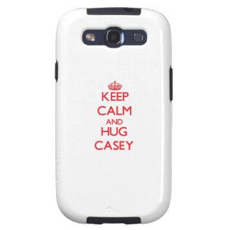 Mantenga tranquilo y abrazo Casey Samsung Galaxy S3 Cárcasa