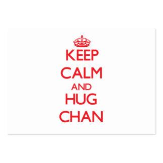Mantenga tranquilo y abrazo Chan Plantillas De Tarjetas De Visita