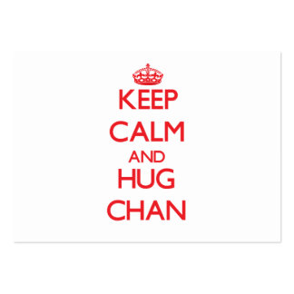 Mantenga tranquilo y abrazo Chan Tarjeta De Visita