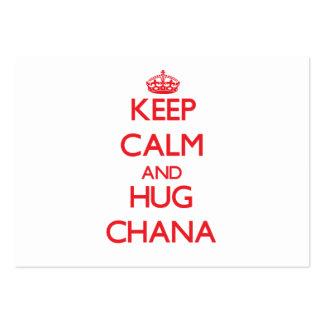 Mantenga tranquilo y abrazo Chana Plantillas De Tarjetas De Visita