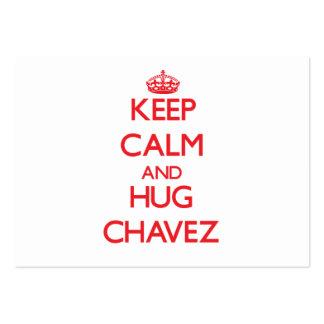 Mantenga tranquilo y abrazo Chavez Tarjetas De Visita Grandes