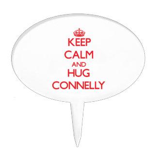Mantenga tranquilo y abrazo Connelly Decoraciones Para Tartas