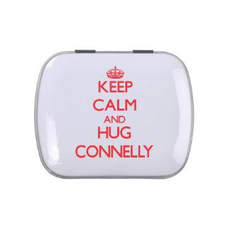 Mantenga tranquilo y abrazo Connelly Frascos De Caramelos