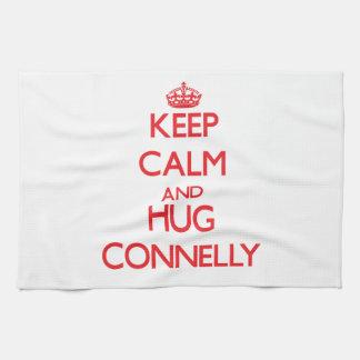 Mantenga tranquilo y abrazo Connelly Toalla De Mano