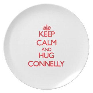 Mantenga tranquilo y abrazo Connelly Plato