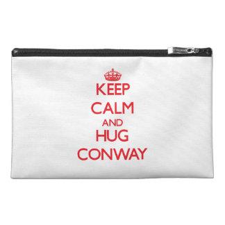 Mantenga tranquilo y abrazo Conway