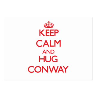 Mantenga tranquilo y abrazo Conway Plantilla De Tarjeta De Visita