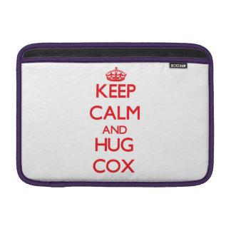 Mantenga tranquilo y abrazo $cox funda para macbook air