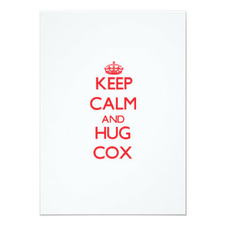 Mantenga tranquilo y abrazo $cox