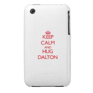 Mantenga tranquilo y abrazo Dalton iPhone 3 Cobertura