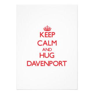 Mantenga tranquilo y abrazo Davenport Anuncios Personalizados