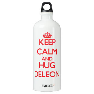 Mantenga tranquilo y abrazo Deleon
