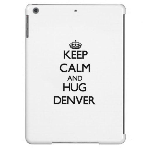 Mantenga tranquilo y abrazo Denver Funda Para iPad Air