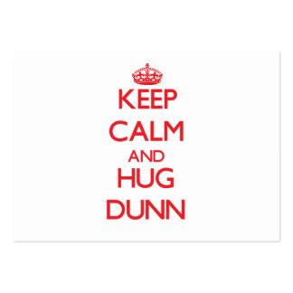 Mantenga tranquilo y abrazo Dunn Plantilla De Tarjeta De Negocio