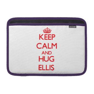 Mantenga tranquilo y abrazo Ellis Fundas MacBook
