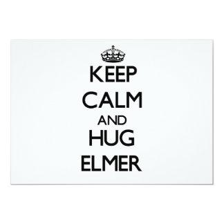 Mantenga tranquilo y abrazo Elmer Invitación 12,7 X 17,8 Cm