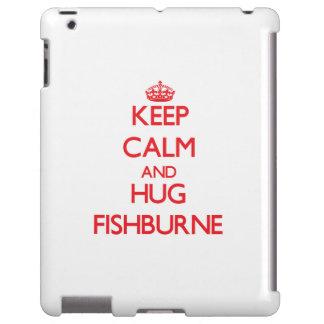 Mantenga tranquilo y abrazo Fishburne