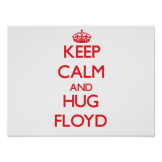 Mantenga tranquilo y abrazo Floyd Poster