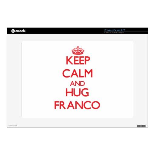 Mantenga tranquilo y abrazo Franco Skins Para 38,1cm Portátiles