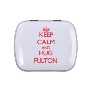 Mantenga tranquilo y abrazo Fulton Frascos De Caramelos