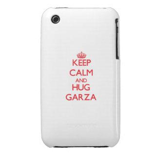Mantenga tranquilo y abrazo Garza iPhone 3 Carcasas