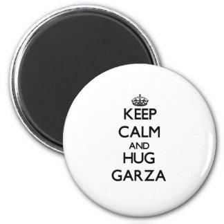 Mantenga tranquilo y abrazo Garza Iman De Nevera