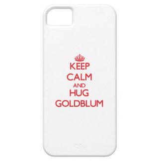 Mantenga tranquilo y abrazo Goldblum iPhone 5 Protectores