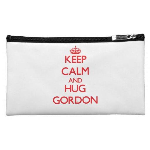 Mantenga tranquilo y abrazo Gordon