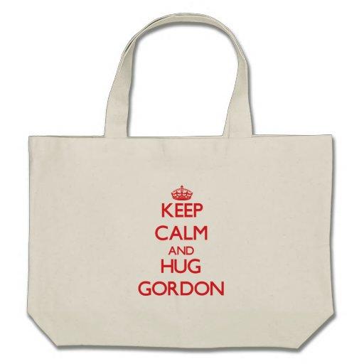 Mantenga tranquilo y abrazo Gordon Bolsa