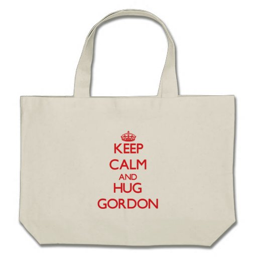 Mantenga tranquilo y abrazo Gordon Bolsa Lienzo