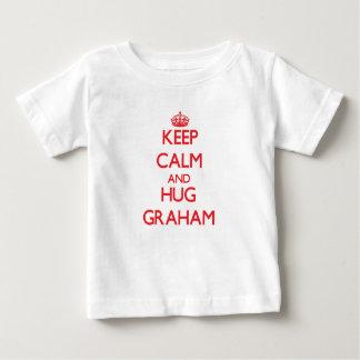 Mantenga tranquilo y abrazo Graham Playera