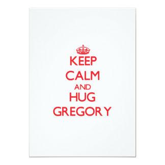 Mantenga tranquilo y abrazo Gregory Invitación 12,7 X 17,8 Cm