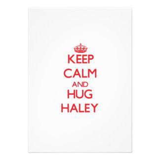 Mantenga tranquilo y abrazo Haley Invitación Personalizada