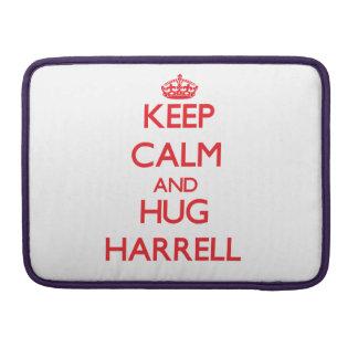 Mantenga tranquilo y abrazo Harrell Fundas Para Macbook Pro