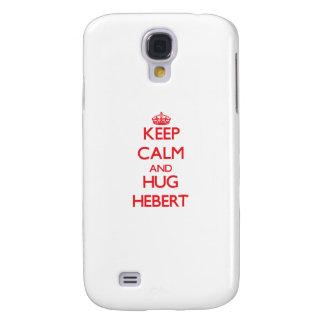 Mantenga tranquilo y abrazo Hebert