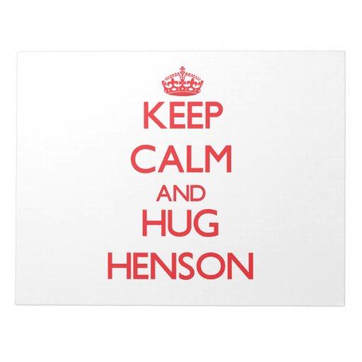 Mantenga tranquilo y abrazo Henson Libreta Para Notas