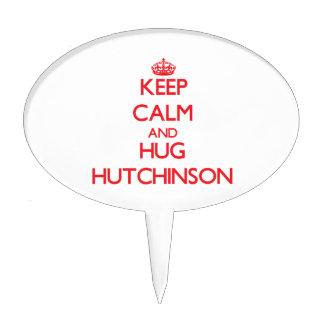 Mantenga tranquilo y abrazo Hutchinson Decoraciones Para Tartas