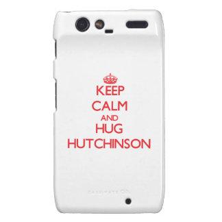 Mantenga tranquilo y abrazo Hutchinson Droid RAZR Carcasas