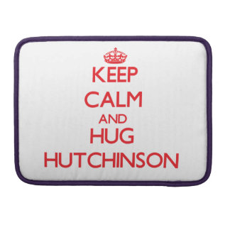 Mantenga tranquilo y abrazo Hutchinson Funda Macbook Pro